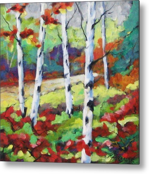 Art Metal Print featuring the painting Birches 07 by Richard T Pranke