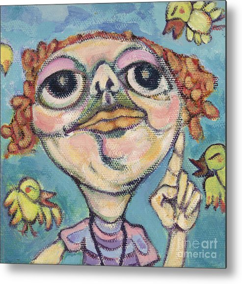 Bird Watcher Metal Print featuring the painting Bird Watcher by Michelle Spiziri