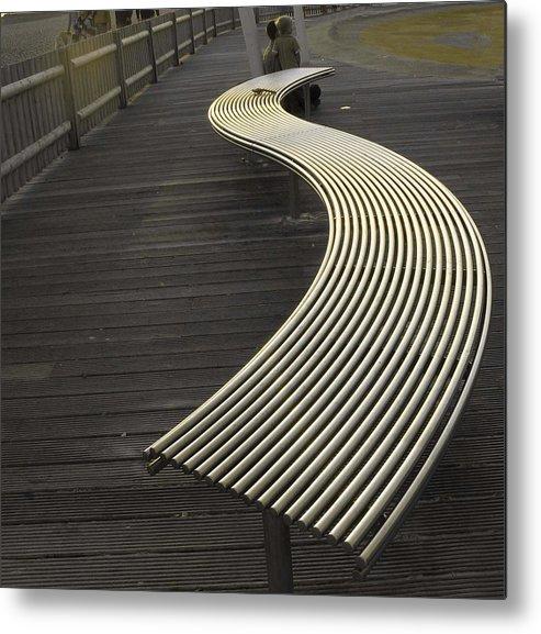 Photograph Metal Print featuring the photograph Birdbench by LeeAnn Alexander