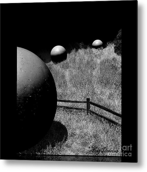 Black & White Photography Metal Print featuring the photograph Black Night Sky by Amy Delaine