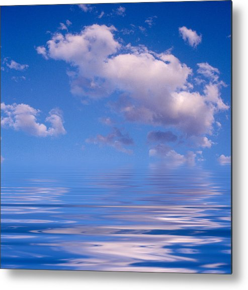 Original Art Metal Print featuring the photograph Blue Sky Reflections by Jerry McElroy