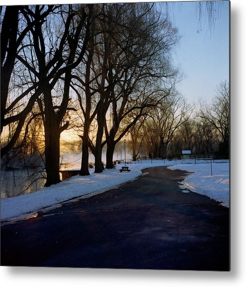 Winter Metal Print featuring the photograph Boat Launch In Winter by Joshua Macneil