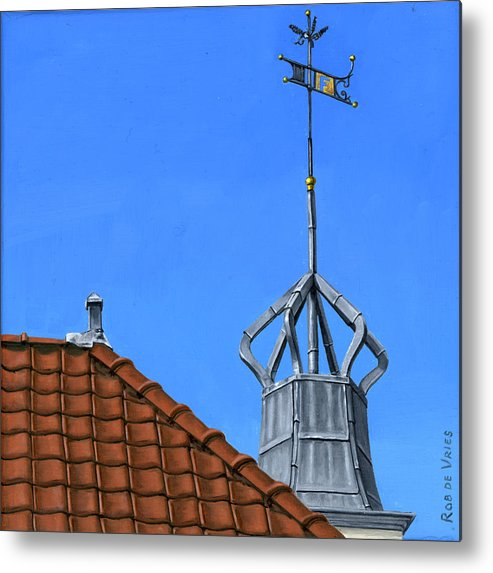Architecture Metal Print featuring the painting Bureau Of Tourism Amsterdam by Rob De Vries