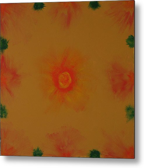 Fine Paintings Metal Print featuring the painting Chakra Flares by Malik Jaffer