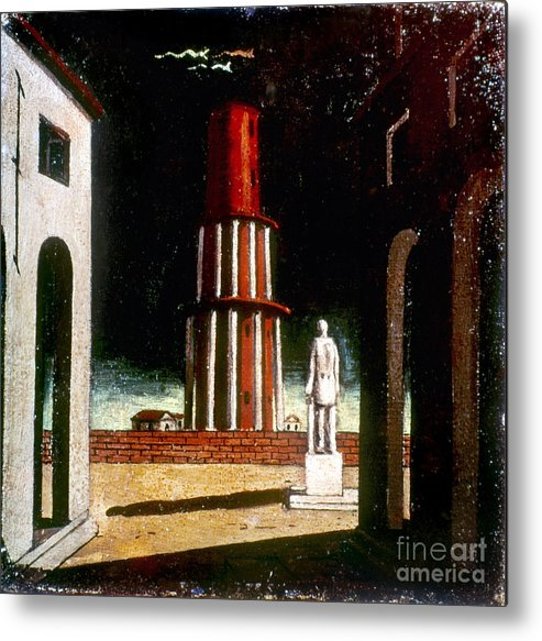 1914 Metal Print featuring the photograph Chirico: Grand Tour, 1914 by Granger