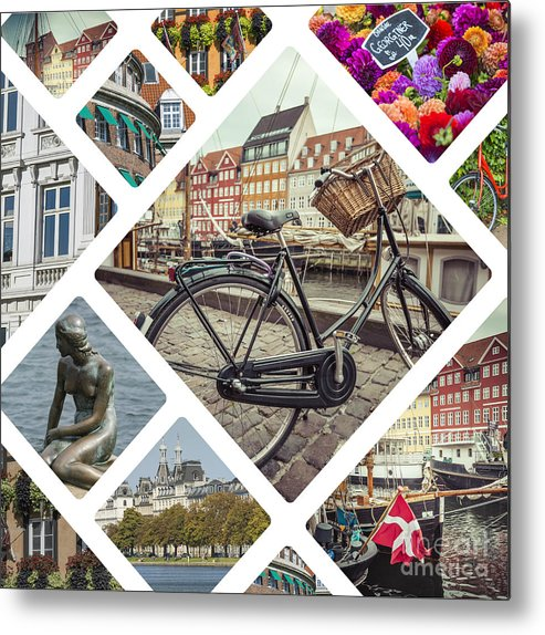 Photography Metal Print featuring the photograph Collage Of Copenhagen by Mariusz Prusaczyk