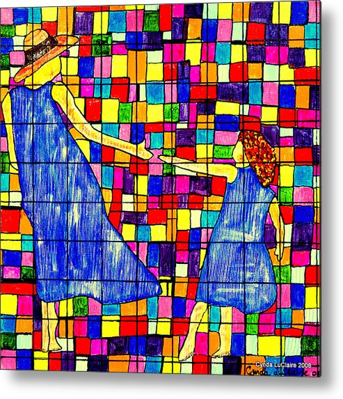 Color Metal Print featuring the painting Color Coded Memories by Cynda LuClaire