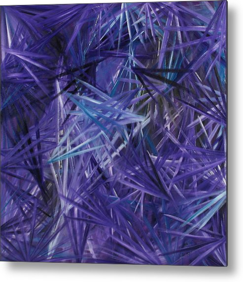 Crystal Metal Print featuring the painting Crystal Clear 2 by Karen Rester