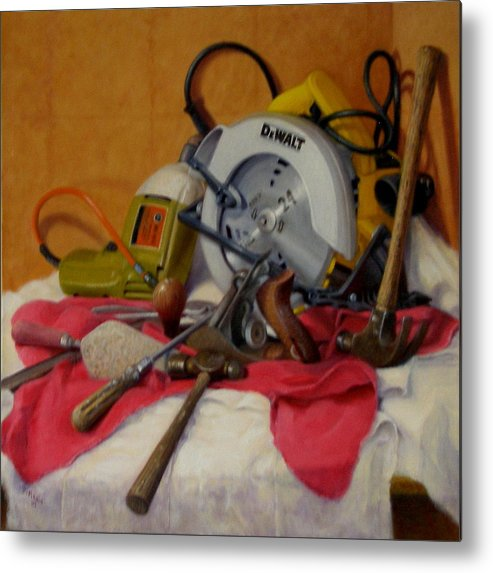 Realism Metal Print featuring the painting D. I. Y. 1 by Donelli DiMaria