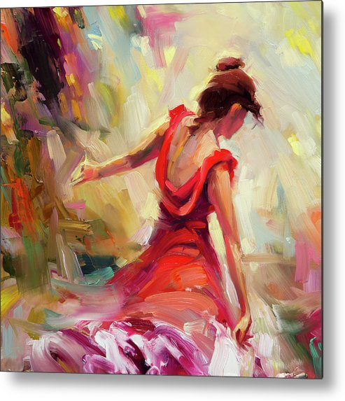 Dancer Metal Print featuring the painting Dancer by Steve Henderson