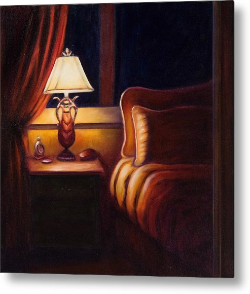 Still Life Metal Print featuring the painting Days End by Shannon Grissom