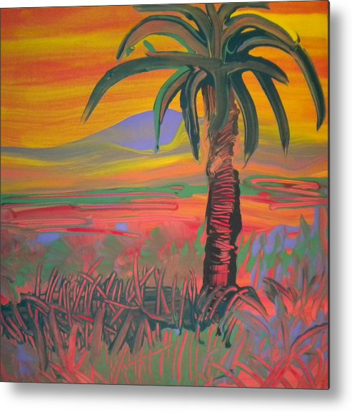 Alzheimer's Metal Print featuring the painting Desert Song By Bill by Art Without Boundaries
