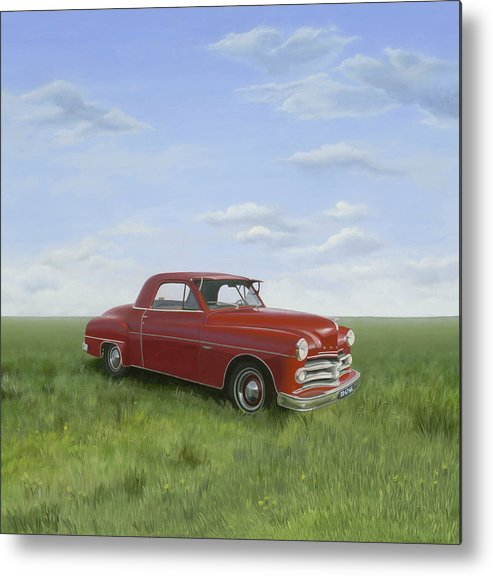 Classic Metal Print featuring the painting Dodge by Patricia Van Lubeck