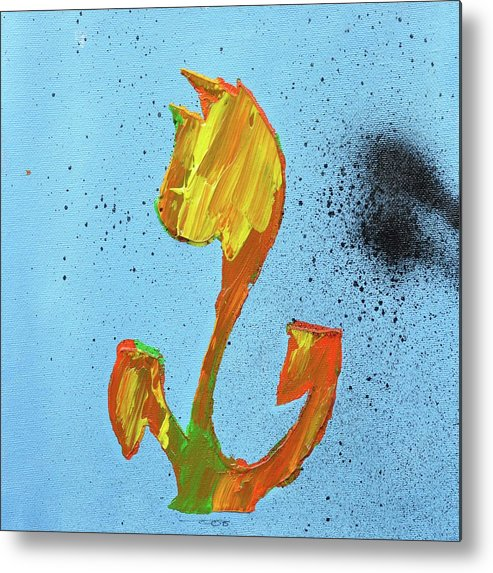 Tulips Metal Print featuring the painting Dutch Pride Yellow And Orange by Eduard Meinema