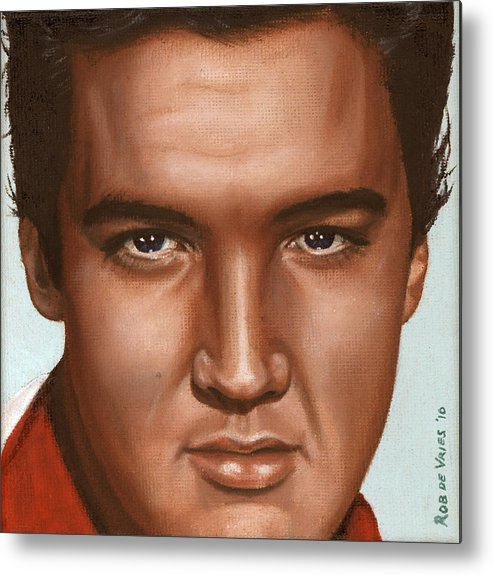 Elvis Metal Print featuring the painting Elvis 24 1958 by Rob De Vries