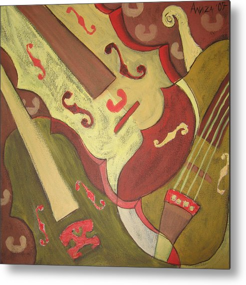 Violin Metal Print featuring the painting Endless Music by Aliza Souleyeva-Alexander