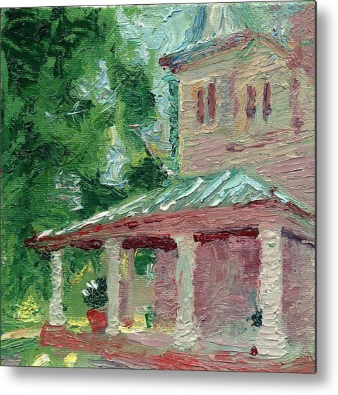 Oil Metal Print featuring the painting Fantasy House by Horacio Prada