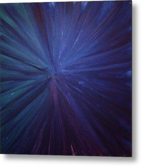 Firework Metal Print featuring the painting Fireworks I by Anna Villarreal Garbis