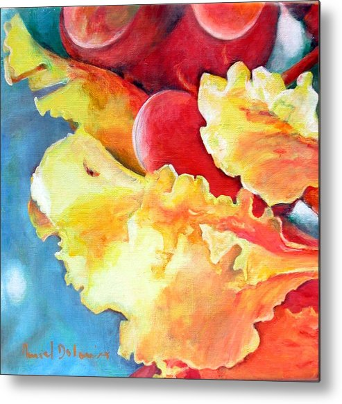 Floral Painting Metal Print featuring the painting Floraison by Muriel Dolemieux