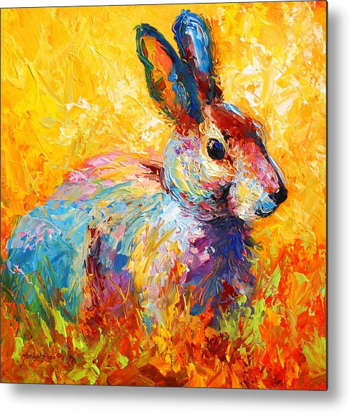 Rabbit Metal Print featuring the painting Forest Bunny by Marion Rose