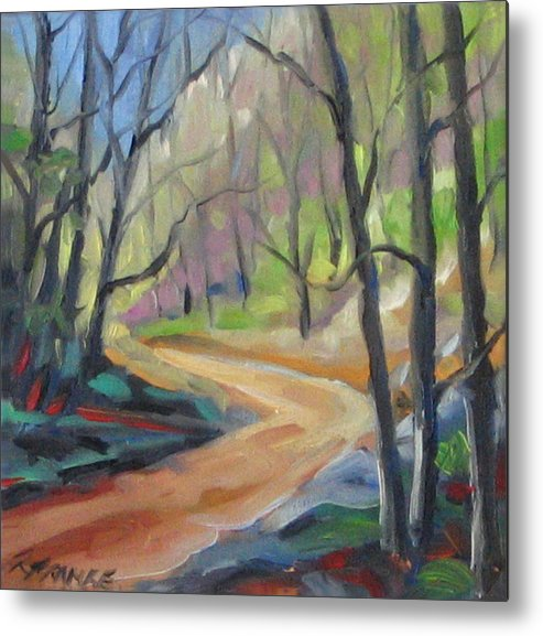 Art Metal Print featuring the painting Forest Way by Richard T Pranke