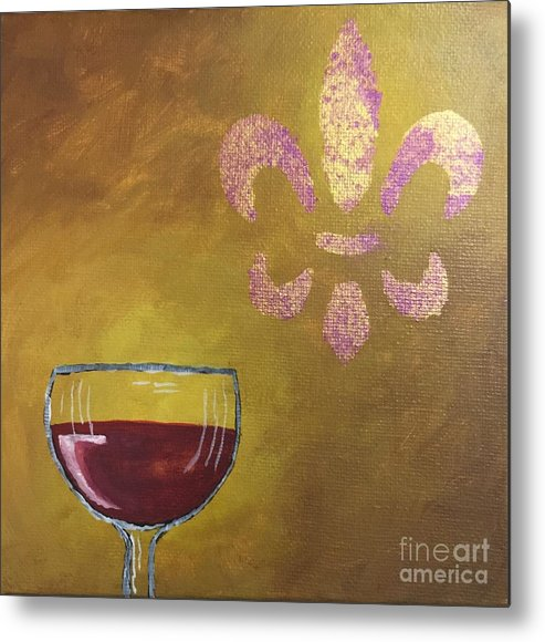 Wine Metal Print featuring the painting French Merlot by Buffy Heslin