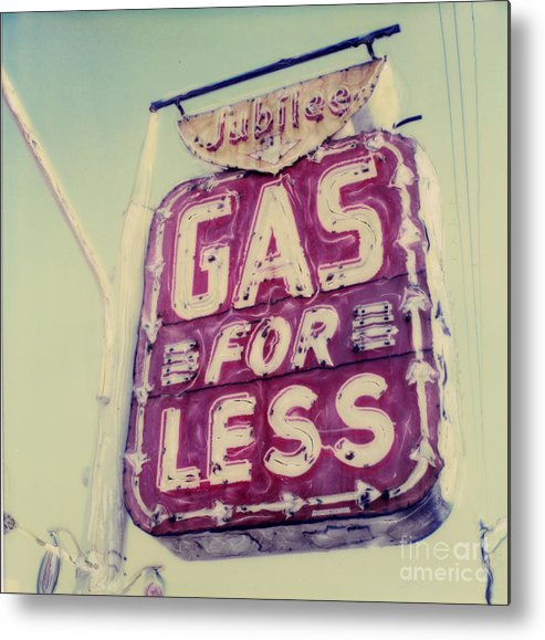 Polaroid Metal Print featuring the photograph Gas For Less by Steven Godfrey