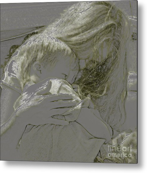 Child Metal Print featuring the photograph Golden by Gary Everson