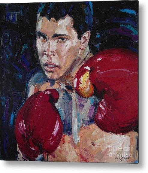 Figurative Metal Print featuring the painting Great Ali by Sergey Ignatenko