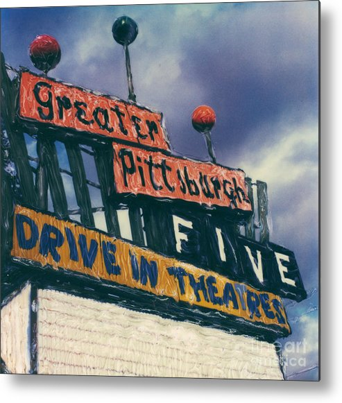 Polaroid Metal Print featuring the photograph Greater Pittsburgh Five Drive-in by Steven Godfrey