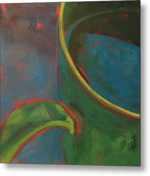 Still Life Metal Print featuring the painting Green Tea by Tina Marie Rothwell