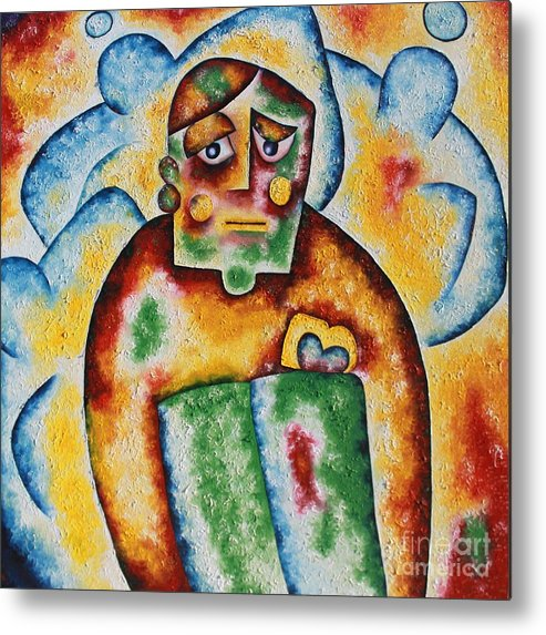 Person Metal Print featuring the painting Guardian Angels by Leona Tobin