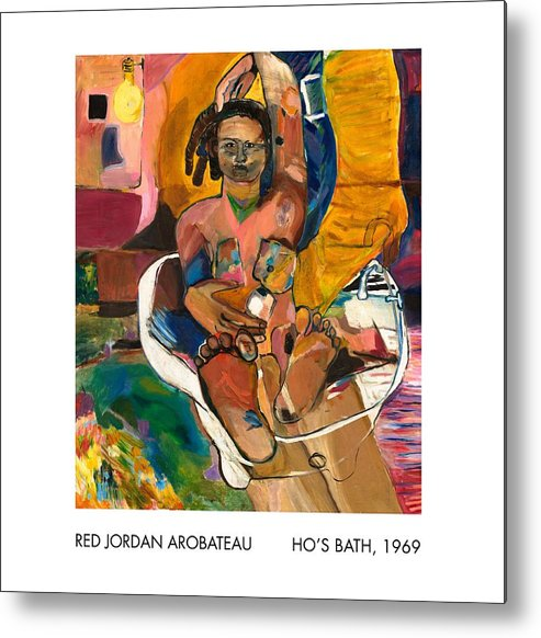 Prostitute Metal Print featuring the painting Ho's Bath by Red Jordan Arobateau