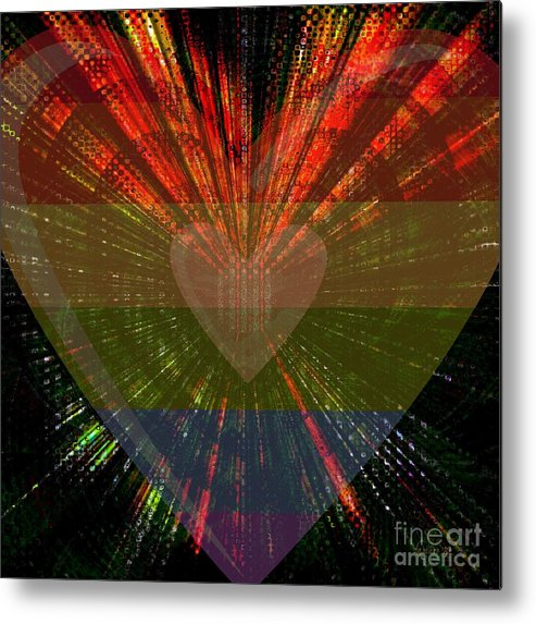 Fania Simon Metal Print featuring the digital art Ignite My Heart by Fania Simon