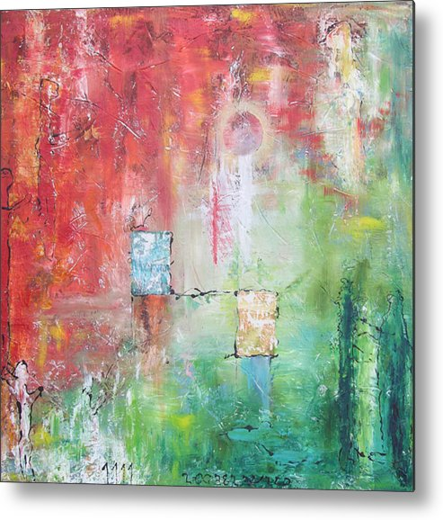 Abstract Painting Metal Print featuring the painting Illumination by Frederic Payet