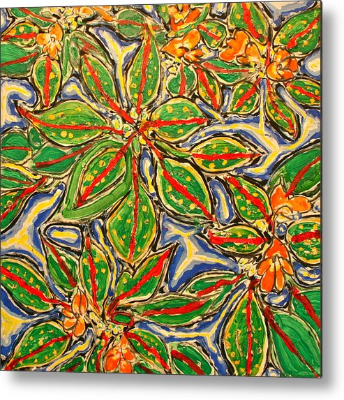 Delaware Metal Print featuring the painting Impatiens Number X Sold by Ray Petersen