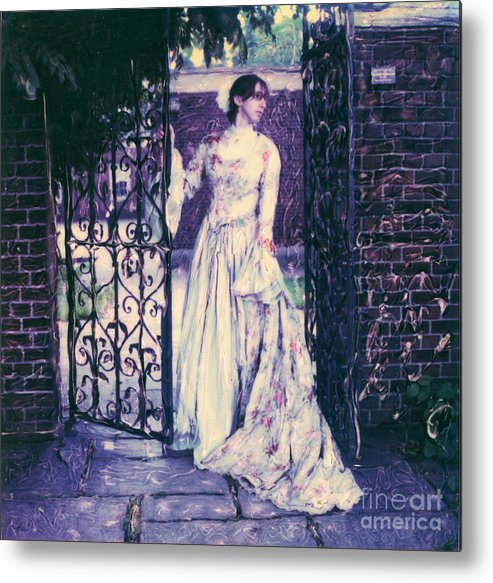 Polaroid Metal Print featuring the photograph In The Doorway... by Steven Godfrey