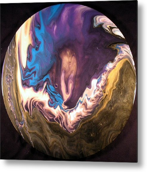 Abstract Metal Print featuring the painting Inner Flame by Patrick Mock