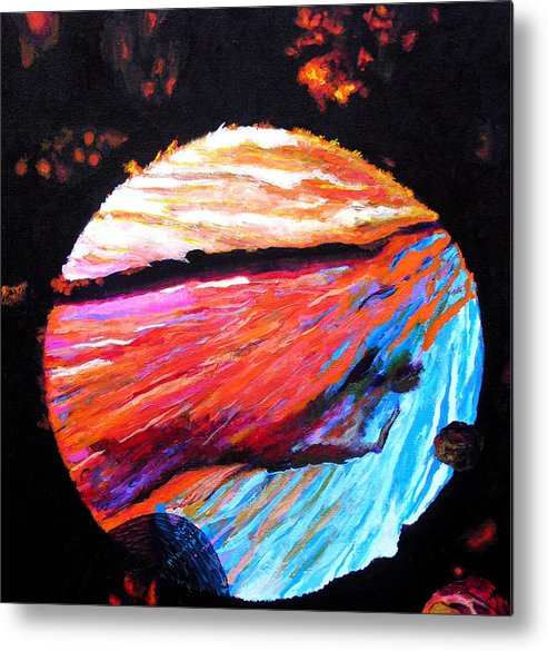 Abstract Metal Print featuring the painting Inspire IIi by Stan Hamilton