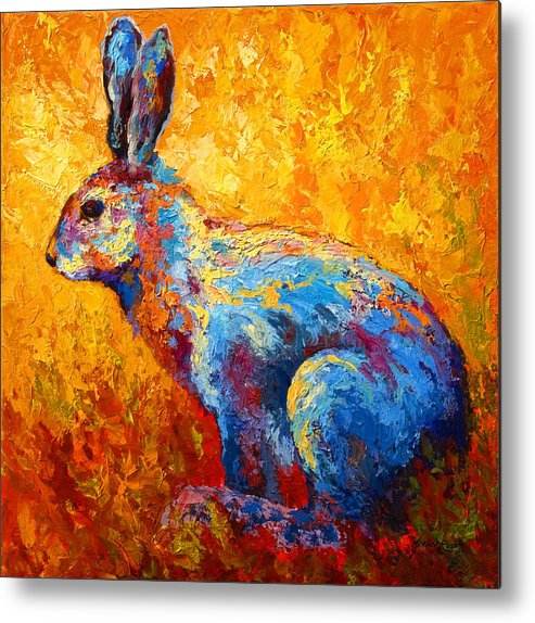 Rabbit Metal Print featuring the painting Jackrabbit by Marion Rose