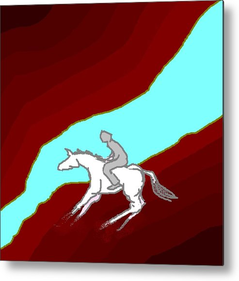 Horses Metal Print featuring the digital art Jump by Carole Boyd