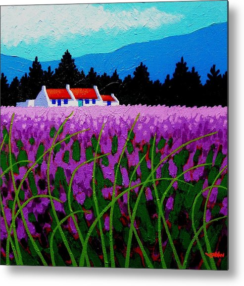 Lavender Metal Print featuring the painting Lavender Field - County Wicklow - Ireland by John Nolan