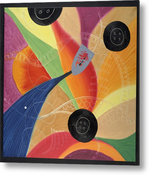 Abstract Metal Print featuring the painting Le Fer Et Les Boutons by Dominique Boutaud