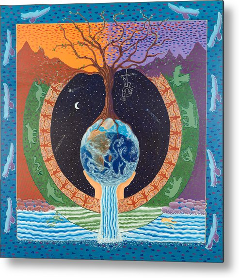 Mandala Metal Print featuring the painting Legacy Mandala by Leti C Stiles