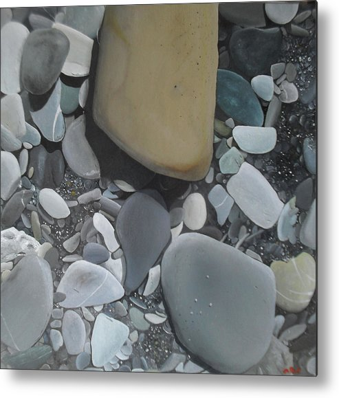Rocks Metal Print featuring the painting L'imperatore by Alberto Perini Sea