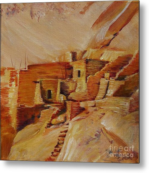 Indian Metal Print featuring the painting Mesa Verde by Summer Celeste