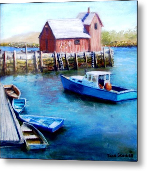 Motif One Metal Print featuring the painting Motif One Rockport Harbor by Jack Skinner