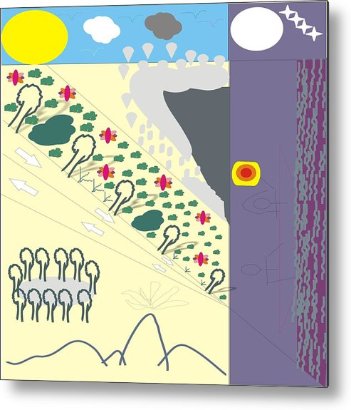 Landscape Metal Print featuring the digital art Multiple Landscape by Akua Addai-Mensah