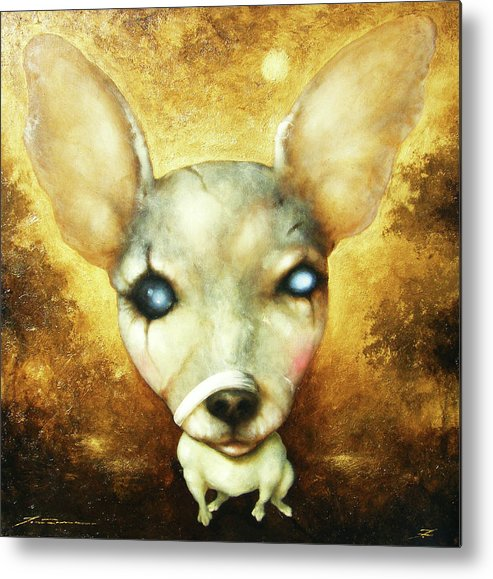 Lorenzo Fontana Metal Print featuring the painting My Doggy Dog by Lorenzo Fontana ALBAURA