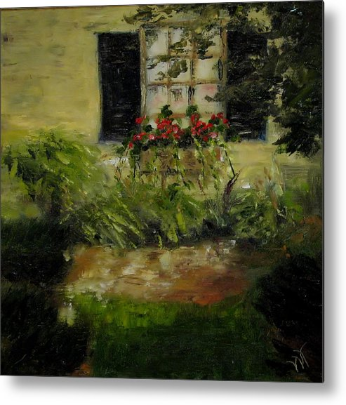 Window Box Metal Print featuring the painting Neal's Path by Wendie Thompson